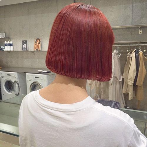 Red Hair Bob Haircut