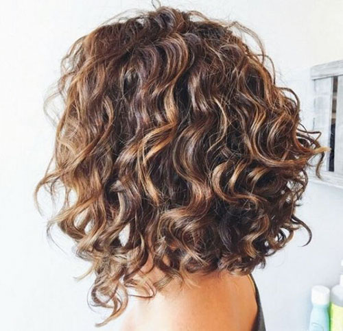 Long Bob Curly Hair