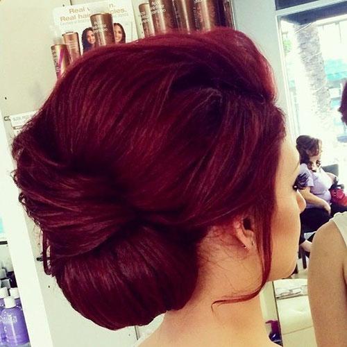 Short Hair Burgundy