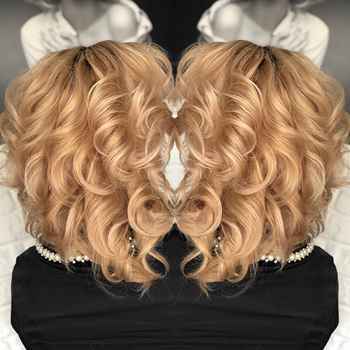 Big Curls Short Hairstyles