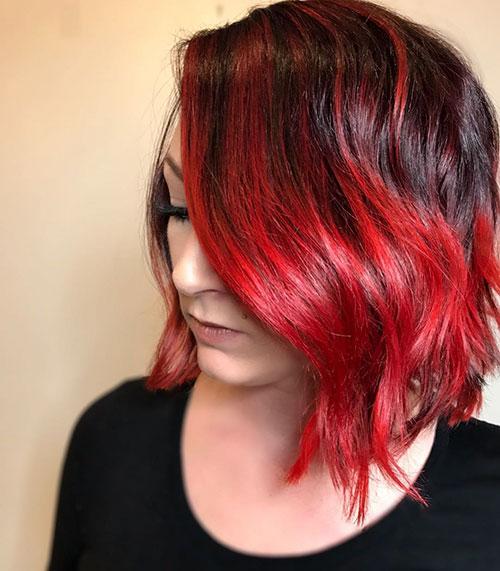 Red Bob Hair