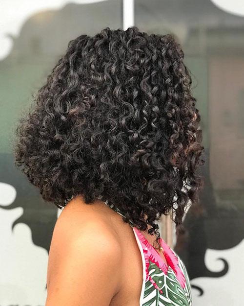 Curly Long Bob