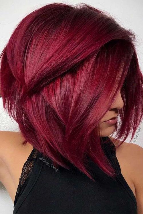 Burgundy Hair Color For Short Hair