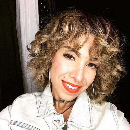 Short Hair With Big Curls