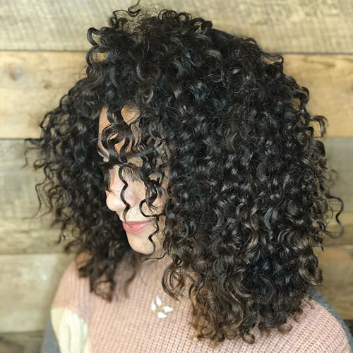 Long Bob Hairstyles For Curly Hair