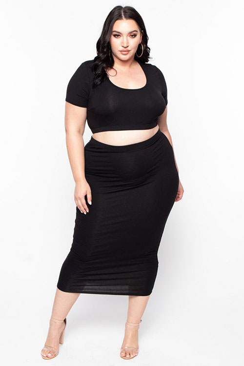 Two Piece Outfits For Plus Size Women