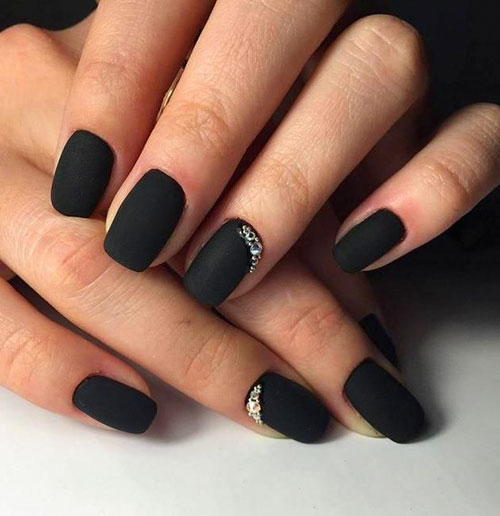 Coffin Nails Black Matte
