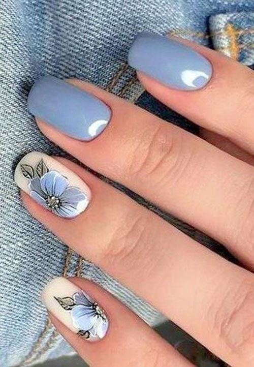 Watercolor Flower Nail Art