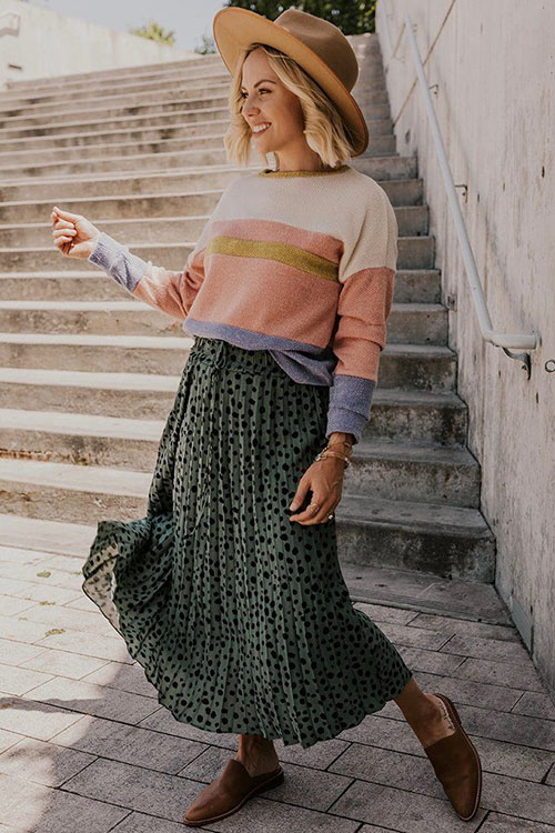 Cute Fall Skirt Outfits