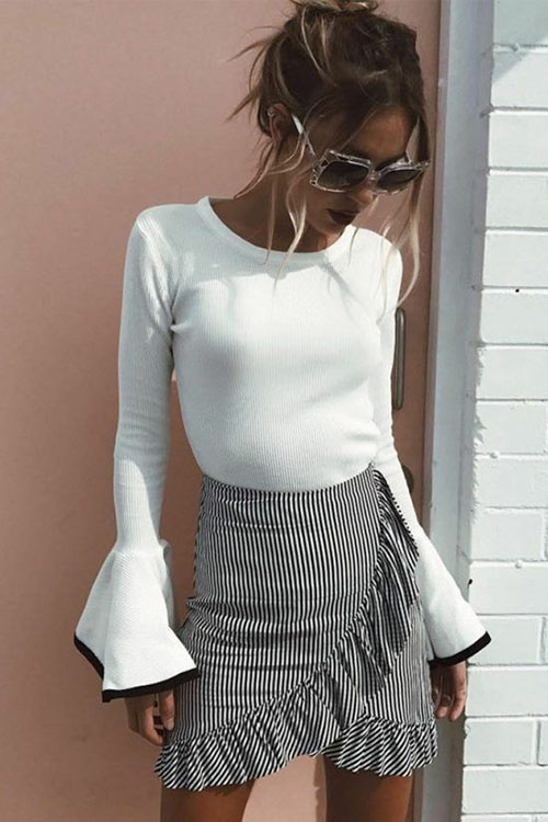 Fall Skirt Outfits 2020