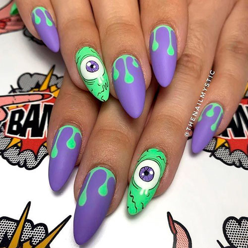 Halloween Nail Art Images