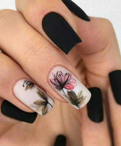 Hawaiian Flower Nail Art