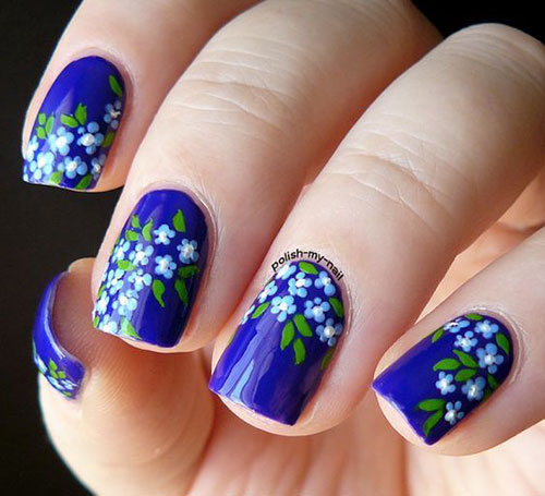 Basic Flower Nail Art