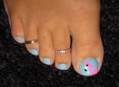 Summer Pedicure Design