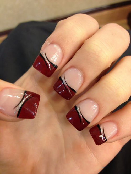 French Tip Gel Nails