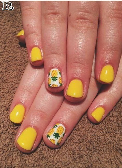 Encapsulated Flower Nail Art