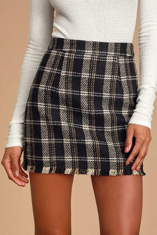 Fall Skirt Outfits For Women