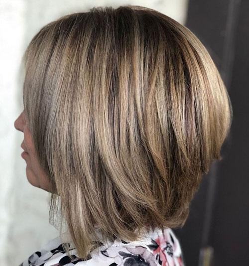 Layered Inverted Bob Haircut