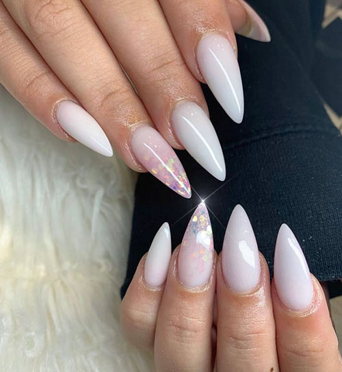 Nails White Acrylic