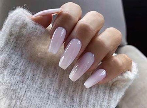 Off White Acrylic Nails