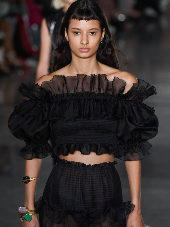 Fashion trend flounces and tulle